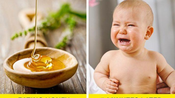 Tuyệt đối không nên cho trẻ thử ăn mật ong trước 1 tuổi